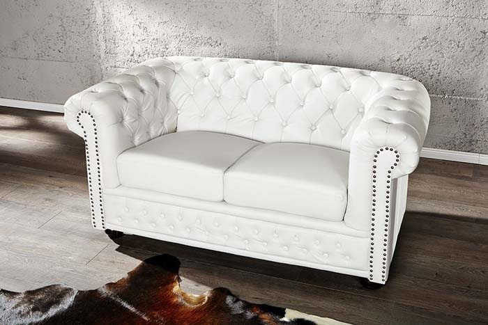 sofa chester white 2 osobowa