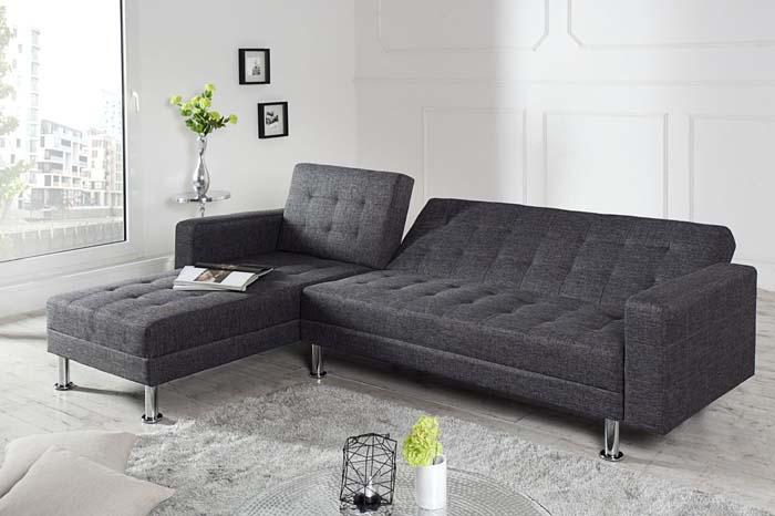 sofa narozna confort szara z funkcją spania