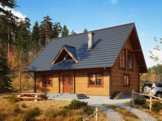 drewniany dom