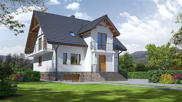 projekt domu brzozow 7 krp1028