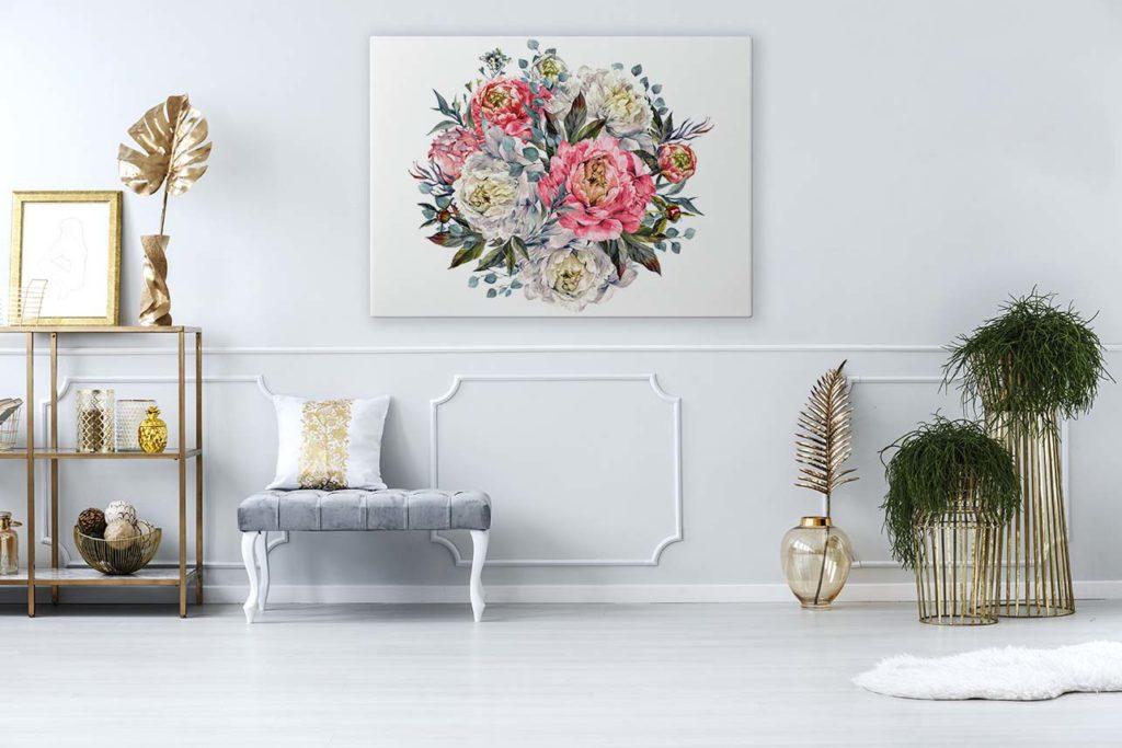obraz kwiaty akwarele