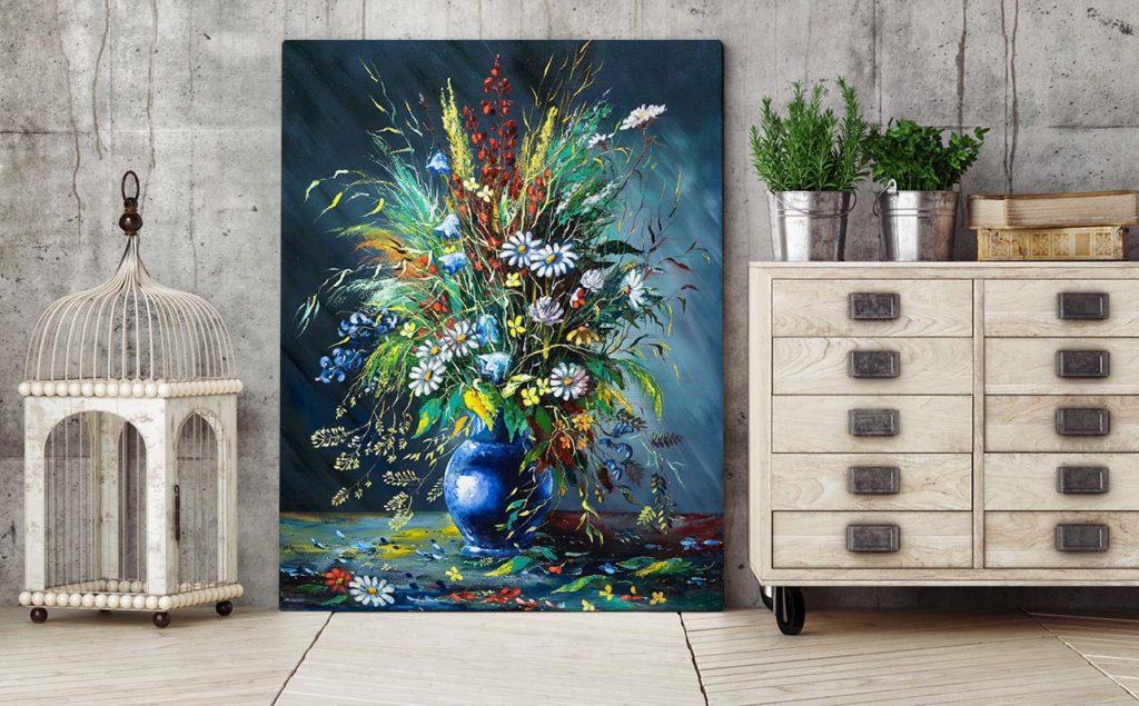 obraz kwiaty wazon